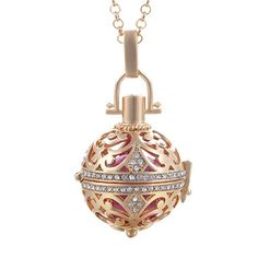 Women's Copper Chain Necklace w/ Ball-Shape Pendant
