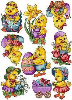 Lidé, kterým se to líbí Cross Stitch For Kids, Cross Stitch Bird, Cross Stitch Patterns, Cross Stitching, Easter Season, Easter Cross, Embroidery Techniques, Needlepoint, Needlework