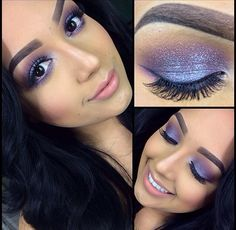 purple eye makeup perfect for prom