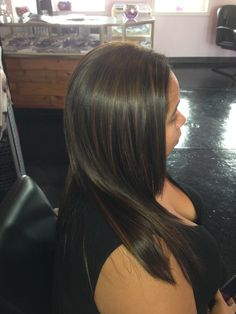 darkhair, highlights, hispanic, beautiful, hair, haircut, straight hair, shine, Titusville, Florida