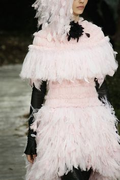 #Chanel Runway #Paris Fashion Week #Haute-Couture Spring/Summer 2013  (aka Chanel's 'funky french chicken' look)