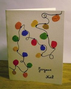 Christmas card made easy by a child – Christmas Ideas – Happy Christmas :) Simple Christmas Cards, Xmas Cards, Kids Christmas, Diy Cards, Handmade Christmas, Christmas Crafts, Christmas Activities For Toddlers, Navidad Diy, Diy Weihnachten