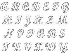 molde de letras cursiva - Pesquisa Google