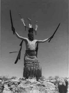 Apache Ga hi, Mountain Spirit Dancer... - Palace Photo Archives (Palace of the Governors Photo Archives) - New Mexico History Museum/Palace of the Governors - Stunning Art Work by New Mexico Artists