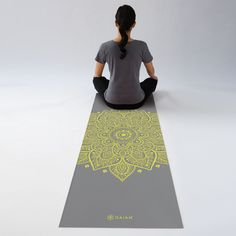 Our Citron Sundial Yoga Mat offers a non-slip grip and 5mm of cushion for your practice. #yoga
