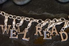 Well Read Silver-Plated Bracelet With Movable Letter Charms; make someone's name???