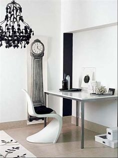 The Decorista-Domestic Bliss: office space of the day...all the white