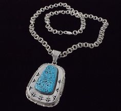 Navajo Indian Jewelry Sterling Silver Mother Of Pearl Pendant by Jan Mariano