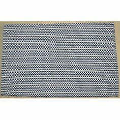 Cannon blue striped kitchen rug