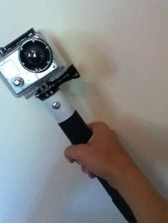 i know my family has a go pro and its very awkward holding your