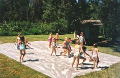 Make A Giant Slip N Slide For Serious Summer Fun The Inspired Housewife