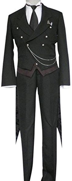FOCUS-COSTUME Black Butler Sebastian Michaelis Suit Cosplay Costume - Brought to you by Avarsha.com
