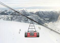 Sólo se me ocurre decir que esto sí es un Teleférico. Foto: Airbnb en los Alpes Franceses.