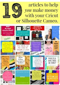 Save now, read later. Must read blog for running a business with your Silhouette Cameo, Curio, Mint, Cricut Explore. cuttingforbusiness.com