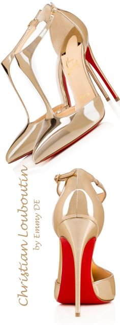 Emmy DE * Christian Louboutin 'J String' Pointed Toe T-strap Pump