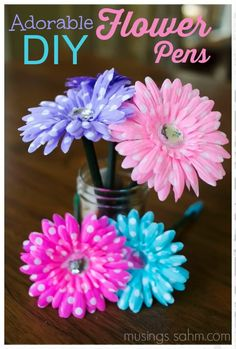 Adorable DIY Flower Pens craft