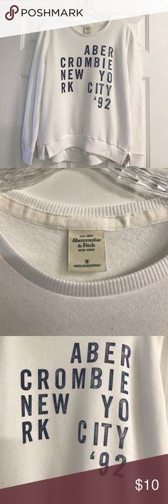 Abercrombie & Fitch Sweatshirt Abercrombie & Fitch over-sized sweatshirt, size medium. EUC. Abercrombie & Fitch Tops Sweatshirts & Hoodies