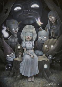 Artwork by Paolo Pedroni Creepy Art, Weird Art, Arte Horror, Horror Art, Surealism Art, Arte Lowbrow, Arte Grunge, Bizarre, Dark Fantasy Art