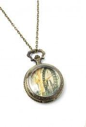 The London Eye Watch Pendant Necklace
