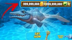 Hungry Shark Evolution MOD unlimited coins - Go to the sea world where you are pitched one with dangerous predators - sharks . Cheat Online, Hack Online, Shark Games, All Sharks, Play Hacks, Gaming Tips, Game Update, Free Gems, Cheating