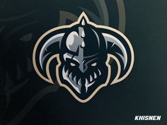 Viking designed by Khisnen Pauvaday💀. Connect with them on Dribbble; Logo Esport, Typography Logo, Logo Branding, Corporate Branding, Spartan Logo, Viking Logo, Game Logo Design, Esports Logo, Sports Team Logos
