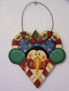 Sweet Heart Penguin Ornament by Bronsonscraftsnsuch on Etsy, $5.00