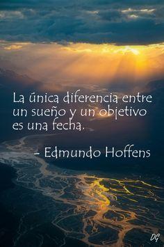 Diferencia entre un sueño y un objetivo. Hecho por Diego Garay.