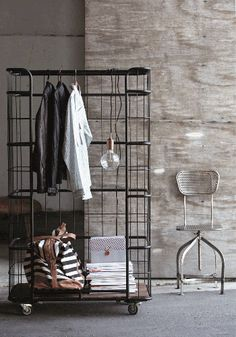 Brill - have shifted a number of these cages when working in retail... now can just hang clothes in!