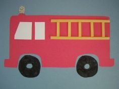 great firetruck craft to bring your little fire fighter to the art table