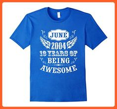 Mens 13th Birthday Shirt Gift Born In June 2004 Shirt for Teens Small Royal Blue - Birthday shirts (*Partner-Link)