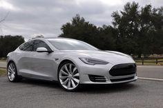 2012 Tesla Model S electric sports sedan