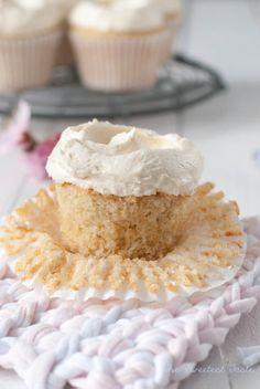 Cupcakes de almendra y vainilla