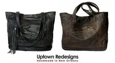 Upcycled Leather Bags Handmade in New Orleans by Sandy Philpott