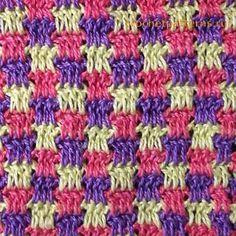 Узор для вязания крючком Мозаика