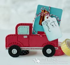 Truck Gift Card Holder by Betsy Veldman for Papertrey Ink (June 2016)