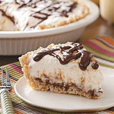 Fudge Sundae Pie- dad's favorite & one of mine too! w/o the peanuts. & i use ice cream.