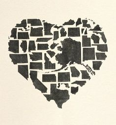 Print this in a poster and then cross out or color the states you have been to.