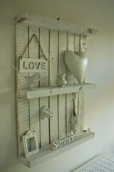 Pallet Wall Shelves.  #pallets  #diy