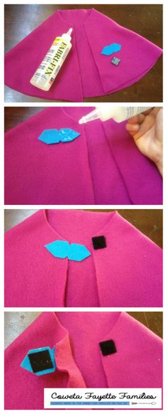 Anna Cape Tutorial #nosew #halloween #frozen copy