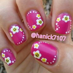 Smiley Nails!!!  Cute for spring and summer!