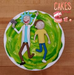 Rick and Morty Inspired Cake Topper MADE YO ORDER by CakesByKristi
