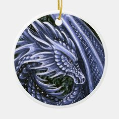 Tanzanite Dragon, art by Theresa Mather. Tanzanite is the birthstone for December.