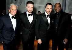 Michael Douglas, Justin Timberlake, designer Tom Ford and Samuel L. Jackson got tuxed up for the GQ Men of the Year Awards in London