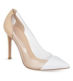 GIANVITO ROSSI Calabria court shoes (White/oth