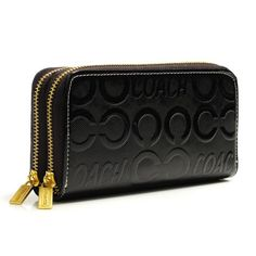 Discount Coach In Signature Large Coffee Wallets BCY Clearance
