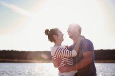 engagement photo at lake