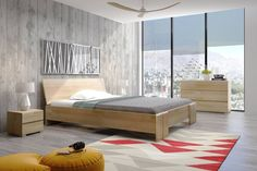 Łóżko drewniane bukowe ze skrzynią na pościel Skandica VESTRE Maxi & ST - #łóżka #łóżko #mebledrewniane #drewno #wood #sypialnia #nowoczesnemeble #sosna #buk #bedroom #polskiproducent #polskiemeble Industrial Bed, High Beds, Ottoman Bed, How To Make Bed, Bed Frame, Mattress, Solid Wood, Cool Designs, Bedroom