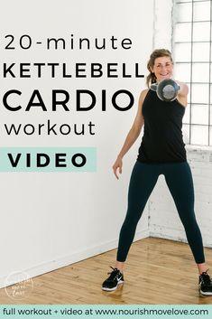 20-Minute Kettlebell Cardio AMRAP Workout | Posted By: AdvancedWeightLossTips.com #kettlebellexerciseforwomen