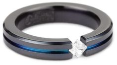 Women's Black Titanium Round-Cut White Sapphire Ring with Multi-Colored Anodized Channel Amazon Curated Collection, http://www.amazon.com/dp/B0046XRQPO/ref=cm_sw_r_pi_dp_AA54qb1MABW8W