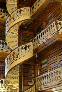 Spiral staircase in the Iowa state capital library - Aren't legislators confused enough?